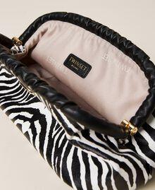 Soft clutch bag with animal print Zebra Print Woman 212TB7231-05