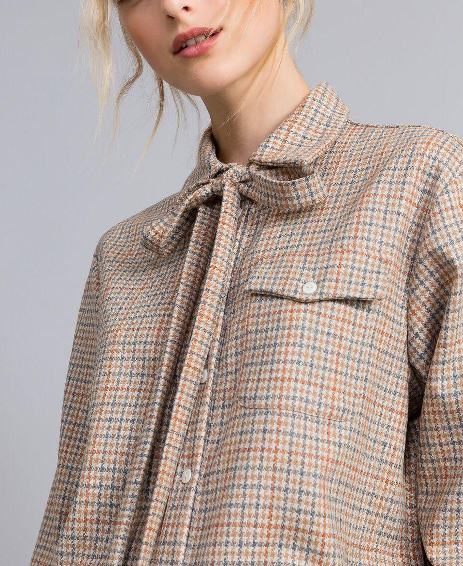 Camicia in flanella a fantasia Multicolor Quadri Donna TA8215-06