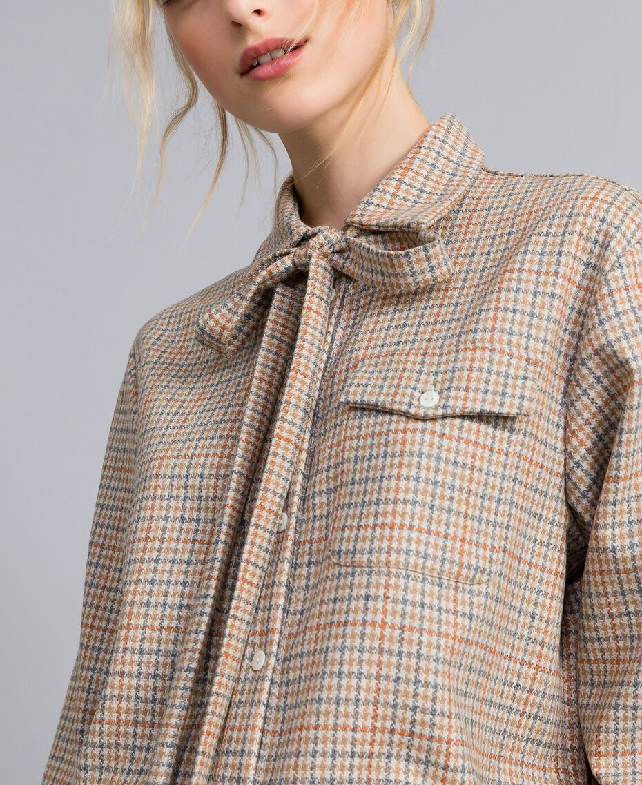 Printed flannel shirt Multicolour Check Woman TA8215-06