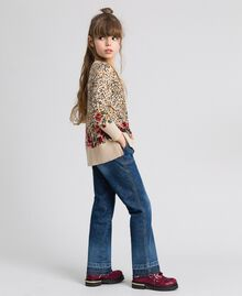 Jeans fatigue con tasche Denim Medio Bambina 192GJ2540-02