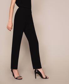 Crêpe cigarette trousers Black Woman 201LB25JJ-02