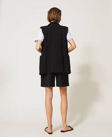 Oversize-Weste mit Taschen Schwarz Frau 211MT2360-05