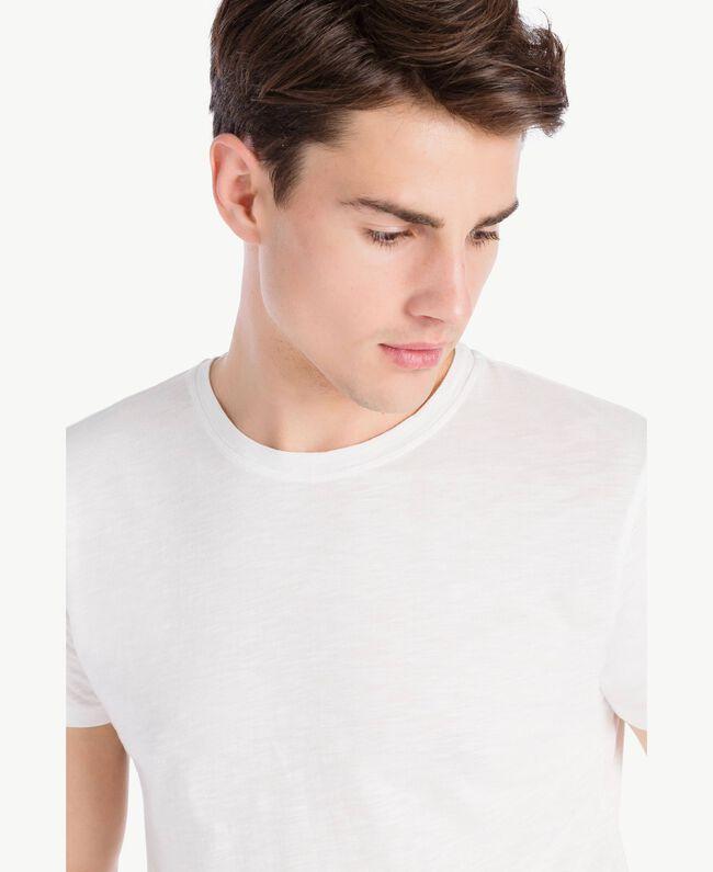 T-Shirt aus Baumwolle Weiß Männlich UA72FA-04