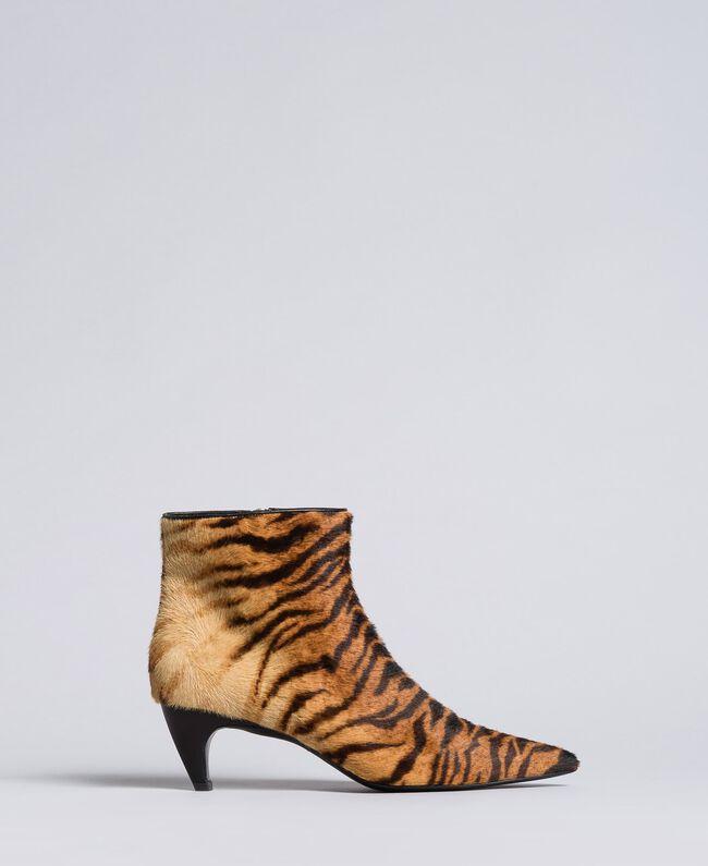 "Ankle-Boot mit Animalierprint Print ""Tiger"" Frau CA8TEC-01"