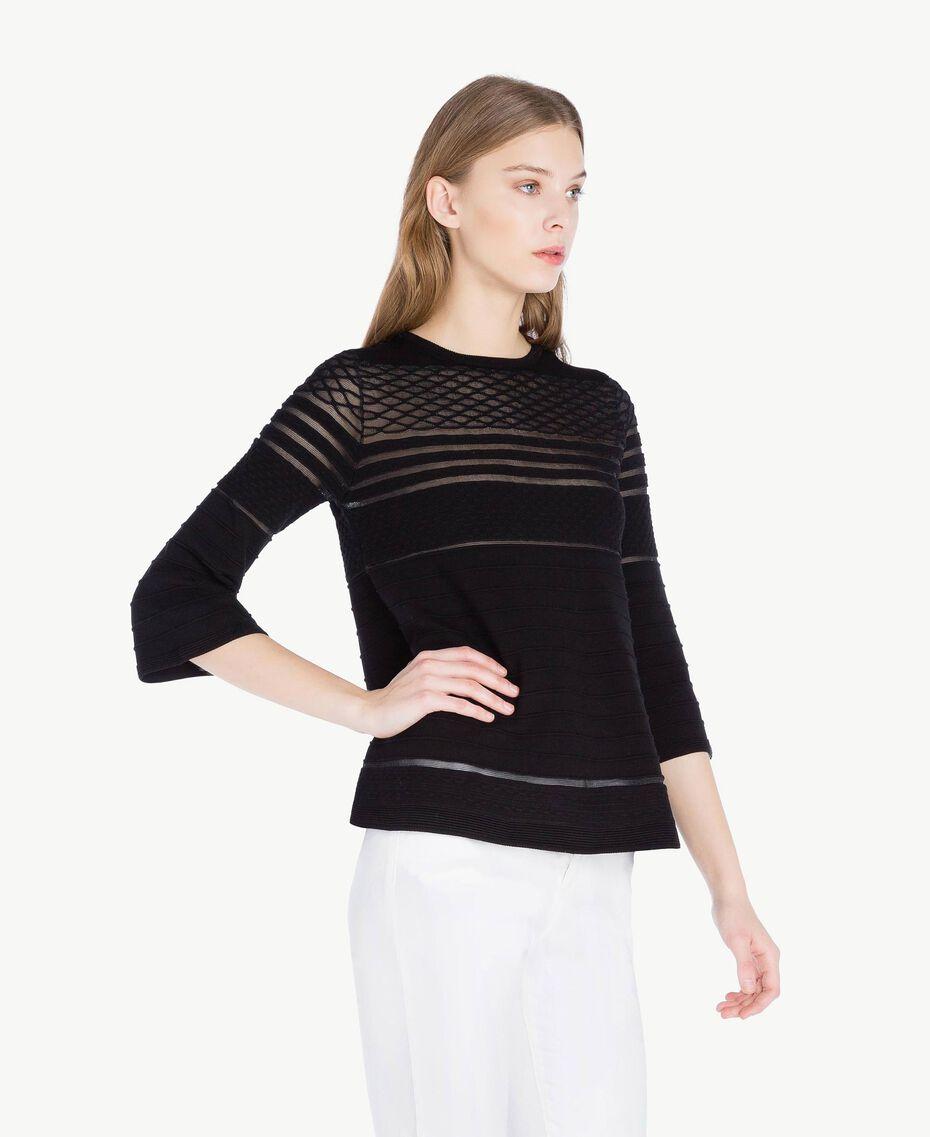 Pullover aus Viskose Schwarz Frau PS8364-02