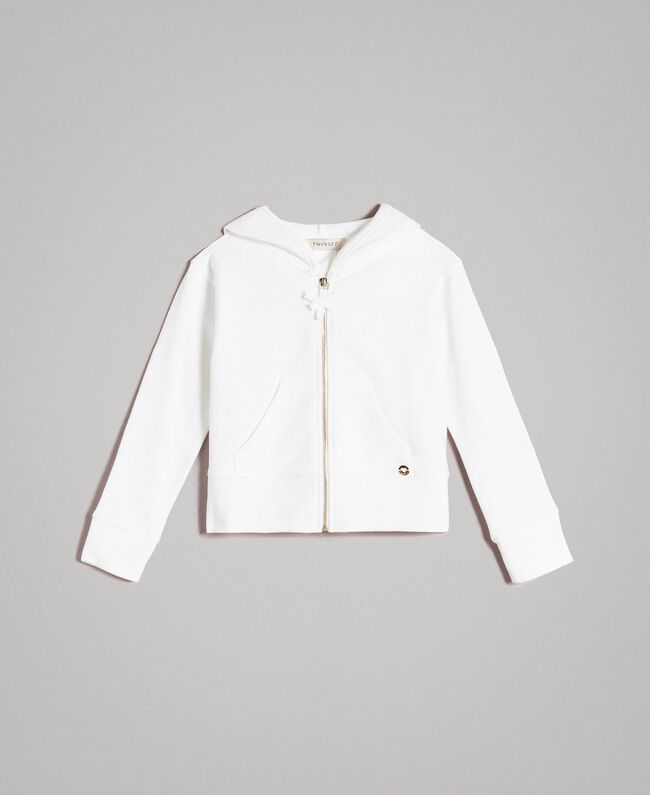 Cotton sweatshirt with bows Off White Child 191GJ2031-01