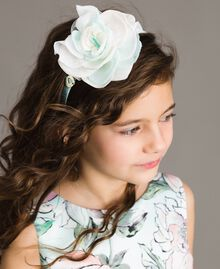 "Georgette headband with flowers Blue Clear ""Water"" Child 191GJ4QM1-0S"