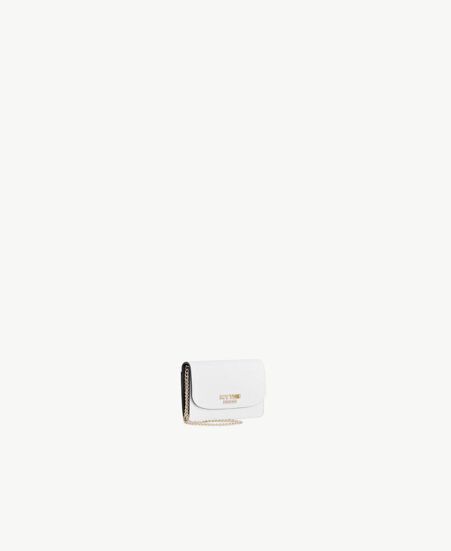 Geldbörse aus Kunstleder Optisches Weiß / Schwarz Frau RS8TCV-02