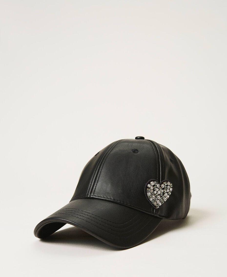Baseball cap with brooch Black Woman 202LI4ZXX-01
