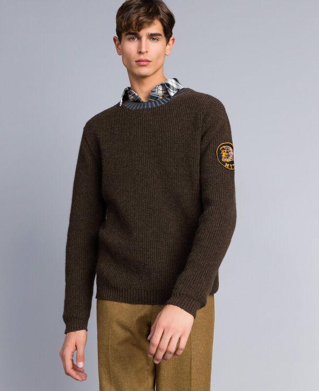 Wool blend jumper Alpine Green Man UA83DA-01