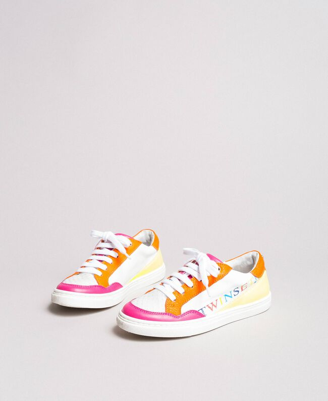 """Colour block sneakers """"Crystal Pink"""" Child 191GCJ032-01"""