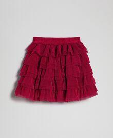 Falda de tul con volantes plisados Rojo Vino rubí Niño 192GB2110-0S