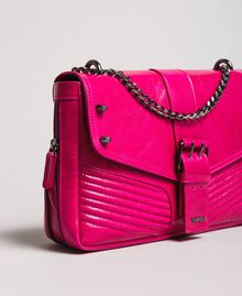 Rebel leather shoulder bag Fuxia Woman 191TO7233-03