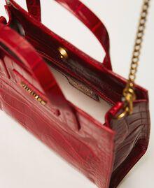 """Маленькая сумка Twinset Bag из кожи, штампованной под крокодила Принт Крокодиловый Красный """"Вишня"""" женщина 202TB7111-05"""
