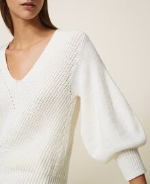 Wool blend jumper Creamy White Woman 202MP3162-04