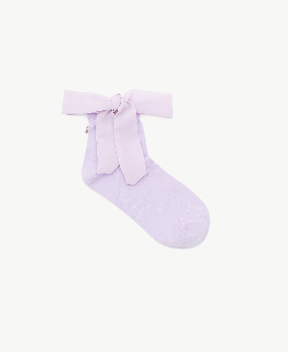 Bow socks Violet Woman AS8P6K-01