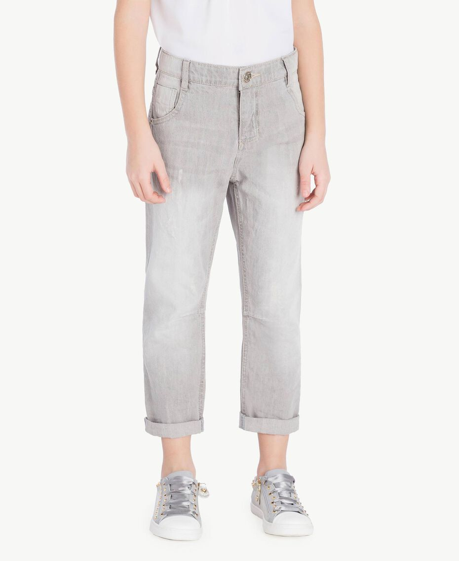Slouchy jeans Light Grey Denim Child GS82FP-02
