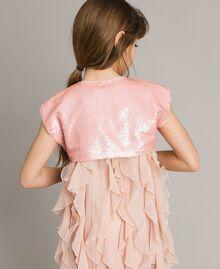 Boléro orné de sequins Rose En fleur Enfant 191GJ2Q71-03