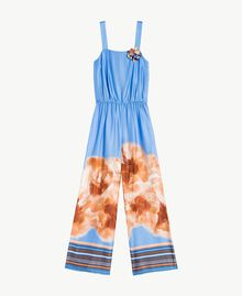 "Printed jumpsuit ""Lagoon"" Blue Mix Print Woman MS8NJJ-01"