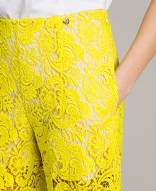 Pantalones palazzo de encaje de macramé Amarillo Fluo Mujer 191MT2154-04