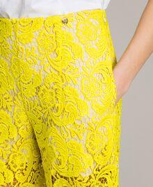 Брюки-палаццо из кружева макраме Желтый Fluo женщина 191MT2154-04