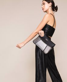 "Multicolour faux leather pochette Multicolour Black / ""Gun Metal"" Grey / Silver Woman 201MA7025-0T"