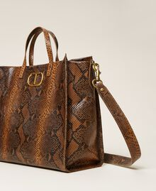 Large Twinset Bag leather shopper Leather Whips Print Woman 212TB7290-04
