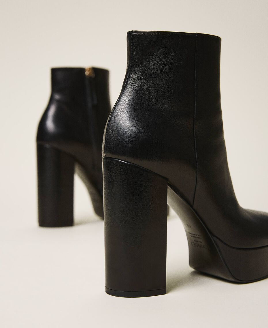 Platform leather ankle boots Black Woman 202TCP152-03