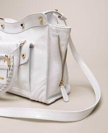 Leather Rebel shopping bag with pocket Titanium Gray Woman 201TA723Z-01