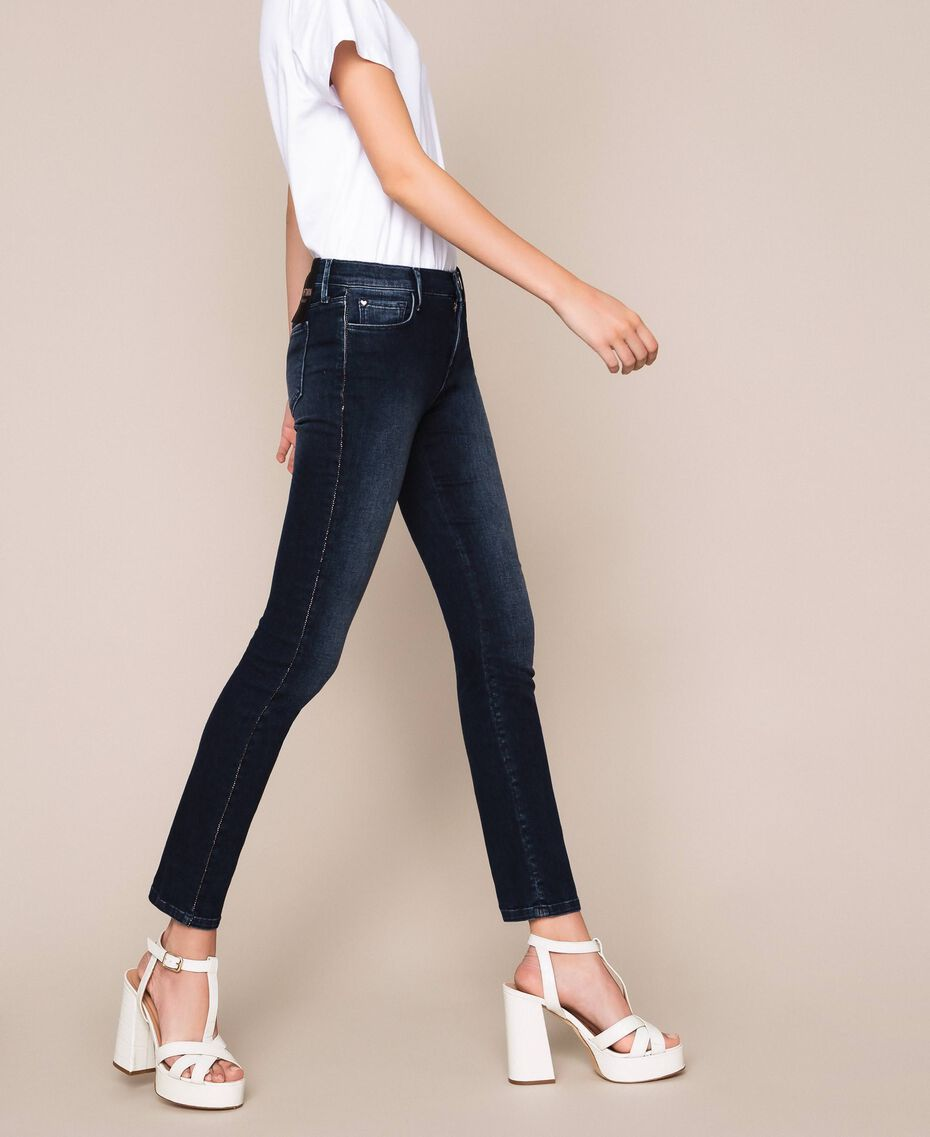 Push up jeans with sequins Denim Blue Woman 201MP2310-03