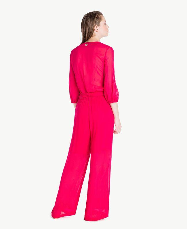 """Viscose jumpsuit """"Voluptuous"""" Pink Woman MS8FGG-04"""