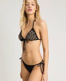 Bas de bikini brésilien avec lacets Noir Femme 191LMMB77-0S