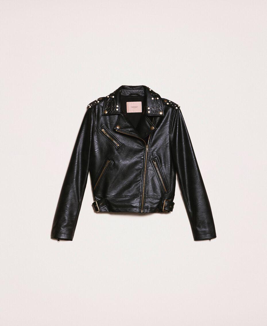 Perfecto en similicuir avec clous et perles Noir Femme 201TP241A-0S