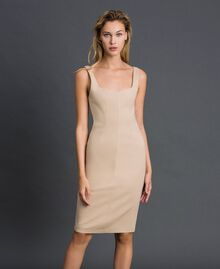 Mid-length sheath dress Cream Woman 999TT2012-02