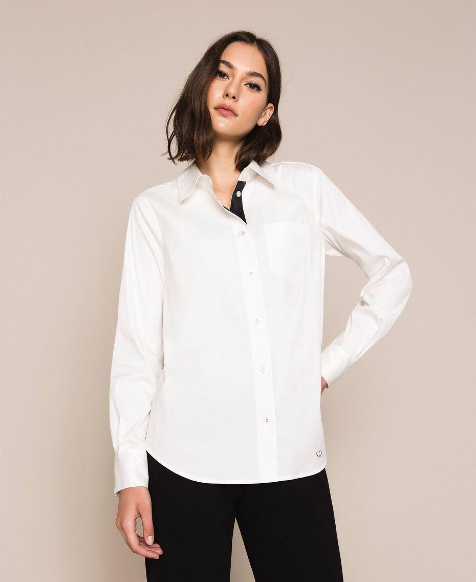 Поплиновая рубашка Blue Sky женщина 201MP2183-01