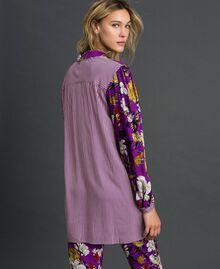 Chemise longue avec imprimé floral Imprimé Fleurs d'Automne Violet Femme 192ST2223-04