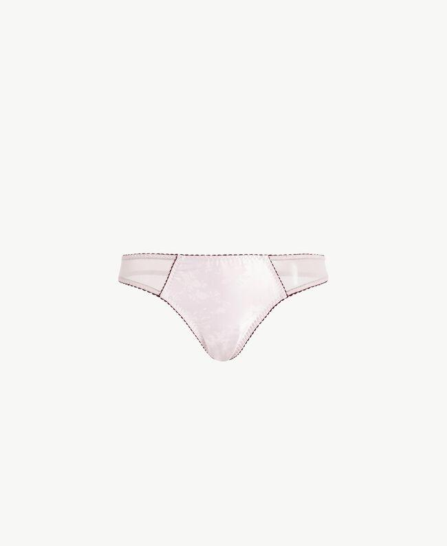 "Jacquard thong ""Milky Pearl"" Pink Female LA7H88-01"