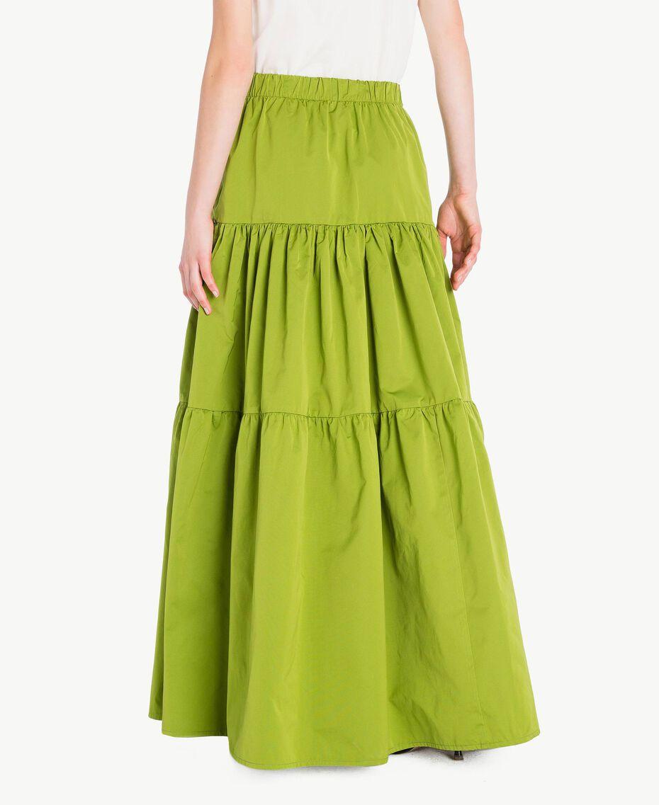 "Technical fabric skirt ""Lime"" Green Woman PS82J8-03"