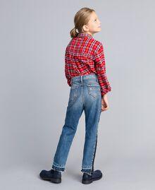"Slouchy-Jeans mit Kontraststreifen Mittleres ""Denimblau"" Kind GA82VA-04"