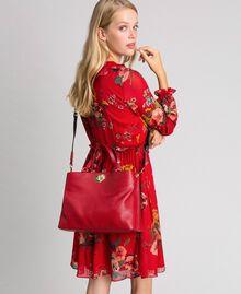 Borsa shopper piccola in pelle con tracolla Rosso Veneziano Donna 192TO8091-0S