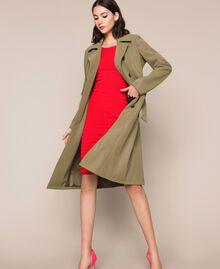 Robe fourreau dos nu à rayures Rayé Rouge «Griotte» / Rouge «Jaspe» Femme 201TP306A-0T