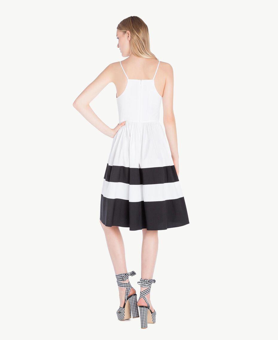 Robe popeline Blanc Optique / Noir Femme YS82FA-03