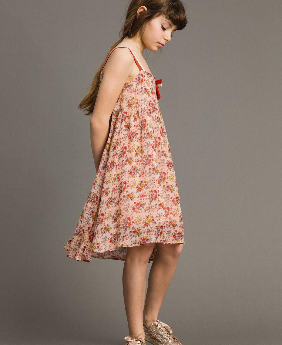 Robe à fleurs en georgette Imprimé Mini-Fleurs Enfant 191GJ2802-02