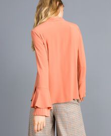 Bluse aus Seidenmischung mit Plissee Sandrosa Frau TA823T-03
