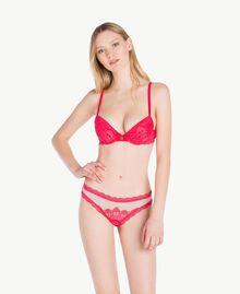 Soutien-gorge push-up dentelle Rouge Cerise Femme LS8E44-02