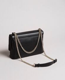 Faux leather shoulder bag with patch Black Woman 191MA7071-04