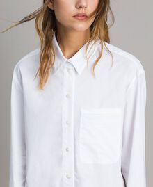 Camicia in popeline Bianco Donna 191TT223D-05