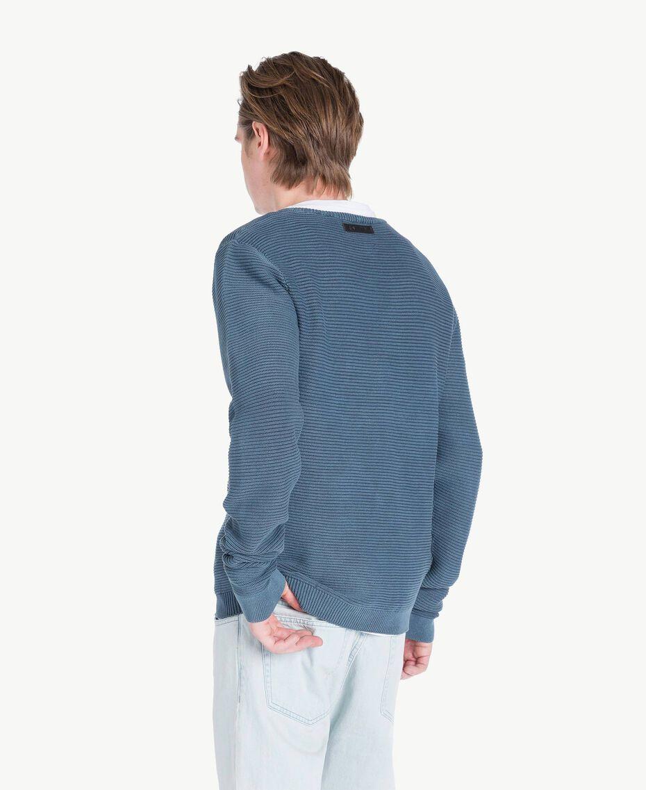 Pullover aus Baumwolle Blackout Stone Blau Mann US833Q-03