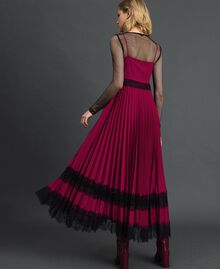 Lace slip dress Beet Red / Black Woman 192TP2282-03