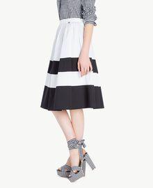 Jupe popeline Blanc Optique / Noir Femme YS82FD-02